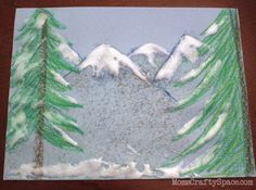 how-to make snow faux paint for kids art