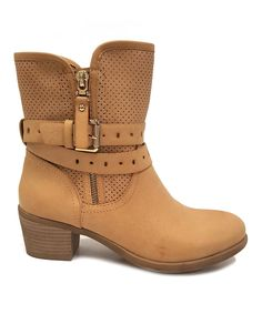 Another great find on #zulily! Pinky Camel Perforated Luciana Boot by Pinky #zulilyfinds