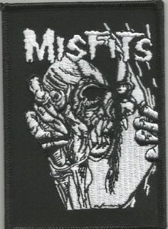 MISFITS Eyeball Woven Patch Sew On Iron On Official Band Merch