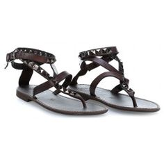 wardow.com - #Campomaggi #shoe #sandal #clogs Sandals Schuhe glattes Rindsleder dunkelbraun