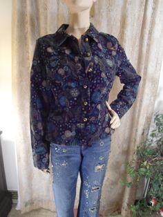 Hippie Paisley Coat Boho Paisley Jacket Size by LandofBridget