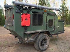 Camping Trailer Diy, Off Road Camper Trailer, Camper Trailers, Small Camping Trailers, Off Road Teardrop Trailer, Teardrop Trailer Plans, Teardrop Camping, Trailer Build, Off Road Camping