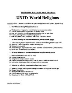 World religions essay