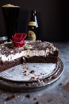 Drunken, Sunken Irish Coffee Chocolate Cake with Salted Bailey's Cream   halfbakedharvest.com @hbharvest