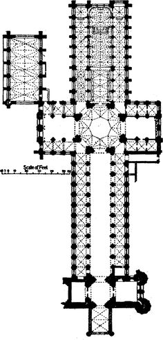 Floor plan of Ely Cathedral