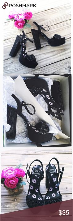 """💎Juicy Couture Black Rhinestone Heels💎 💎Juicy Couture Black Rhinestone Heels💎  d e t a i l s 🎀 * new in box 