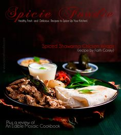 Chicken Shawarma Wraps (Sandwiches) and An Edible Mosaic Cookbook Review | Spicie Foodie Healthy Recipes & Food Photography