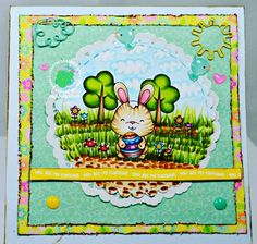 """My project for Craftin Desert Diva's using """"Egg Hunt Bunny"""" digital stamp with new Doodlebug Design goodies from their """"Spring Things"""" line!  BUY STAMP HERE: http://craftindesertdivas.com/egg-hunt-bunny-digital-stamp/?aff=49 BUY PAPER HERE: http://craftindesertdivas.com/spring-things-paper-pad/?aff=49 #craftindesertdivas #copicmarker #doodlebugdesign #digitalstamp #spring #cardmaking #papercrafting"""