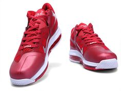 official photos 3d5aa 01944 Nike LeBron 9 Low Team Red Challenge Red White,Style code 469765-001