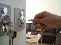 Human Key Holders - Never lose your keys again, and they look cool.