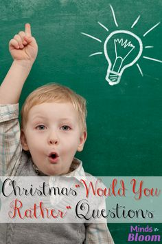 "You know we love ""Would you rather."" questions here at Minds in Bloom, so we made one just for Christmas, of course! Get your students thinking and practicing decision-making skills with these fun Christmas Would You Rather Questions. Christmas Party Games, Xmas Party, Christmas Activities, Christmas Crafts, Christmas Ideas, Holiday Ideas, Christmas Trivia, Winter Holiday, Holiday Parties"