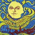 Vintage Buffalo Springfield concert poster. - Hippie, Woodstock, classic rock.
