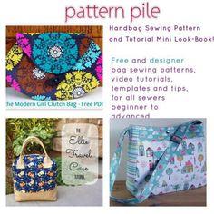 Free Handbag Sewing Pattern and Tutorial Look-Book!