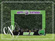 Hulk photo booth frame | Super hero photo prop | Comic photo booth | Birthday selfie station | Selfi Hulk Birthday, Third Birthday, Photo Booth Frame, Photo Booth Props, Birthday Frames, Birthday Ideas, Selfies, Table Labels, Framed Words