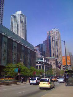 Magnificent Mile along Michigan Avenue, Windy City, Chicago, Illinois USA