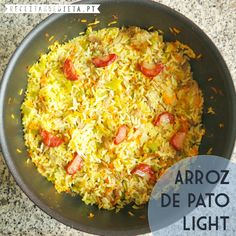 Arroz de Pato Light   #receita #dieta #light #regime #fitness #saudavel
