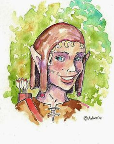 An Illustration for how to draw a young elf warrior. See more at my blogger: http://drawinglessonsfortheyoungartist.blogspot.com/