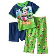 Disney Mickey Mouse Let's Look For Bugs Pajama Set - Toddler