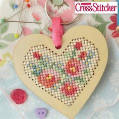 Heart Pendant Mini Cross Stitch Kit