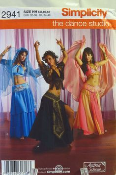 Misses' Belly Dance Costume Pattern