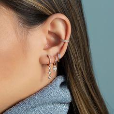 Aigue-marine et Iolite Lustre Boucles D/'oreilles 14k plaqué or