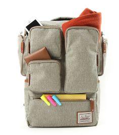 Pocket backpack/ canvas backpack/ square backpack/ by Childrenshop