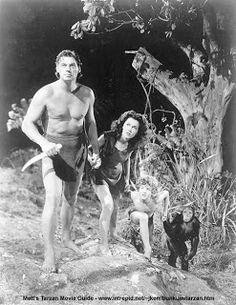 En esta histórica foto vemos a Johnny Weismuller que en 1932 filmara la primera película de Tarzán, que con sus gritos era capaz de comunicarse con todos los animales de la selva.
