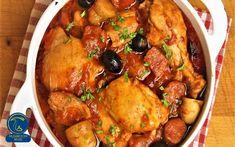 خورشت قارچ و مرغ Cacciatore Recipes, Chicken Cacciatore, Potatoes In Oven, Beef And Potatoes, Stewed Potatoes, Pasta Recipes, Chicken Recipes, Dinner Ideas, Clean Dinners