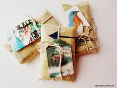 Don't throw away those old Christmas or birthday cards.  #DIY #holidays