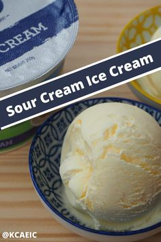 Sour cream ice cream. Delicious by itself or with fruit desserts, this homemade ice cream is easy to make and a fantastic variation.  #icecream #dessert #creamy #pudding Whole Food Desserts, Summer Dessert Recipes, Frozen Desserts, Healthy Dessert Recipes, Frozen Treats, Best Homemade Ice Cream, Easy Ice Cream Recipe, Ice Cream Recipes, Ice Cream Churner