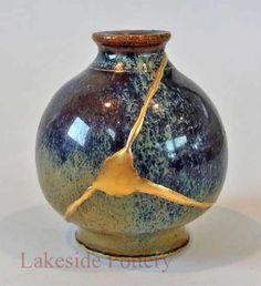 Kintsukuroi Pottery   Kintsugi Gift : Repairing Broken Ceramic With Gold Better Than New