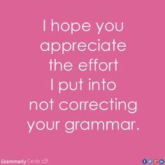 Please fix my grammars!?