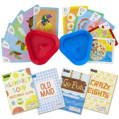 Set of 4 Classic Children's Card Games with 2 Card Holders| 4+