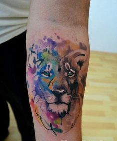 Most popular tags for this image include: lion color leon and tattoo
