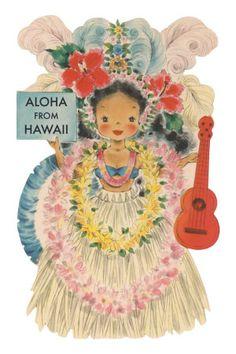 Aloha from Hawaii, Doll with Ukulele Premium Poster
