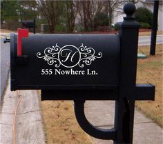 Vinyl Mailbox Lettering Decoration Decal by OffTheWallVinylDecor, $8.99