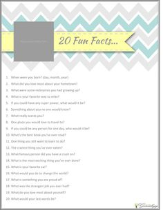 Free Family History 20 Fun Questions to ask today! {Type & Print in 5 min} ~ Teach Me Genealogy