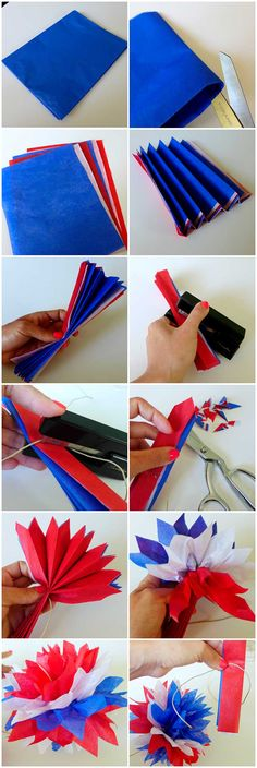 M: of July craft Yay for Patriotic Party Decor! Red, White and Blue Pom Garland May 2014 Yay for Patriotic Party Decor! Red, White and Blue Pom Garland Summer Crafts, Holiday Crafts, Diy And Crafts, Paper Crafts, Decor Crafts, 4th Of July Celebration, 4th Of July Party, Fourth Of July Crafts For Kids, 4th Of July Ideas