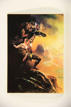 L011016 Boris Vallejo 1992 Card / Hercules - 1989 - Card #19 / ARTWORK