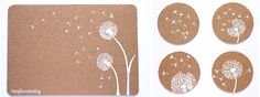 DIY:  Individuales y posavasos de corcho by ParafernaliaBlog / DIY Cork placemat and coaster
