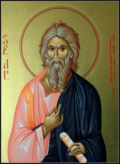 Andrew the first called. Byzantine Icons, Byzantine Art, Orthodox Christianity, Churches Of Christ, Religious Icons, Orthodox Icons, Catholic, Saints, Religion
