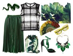 """""""GREEN"""" by erindream ❤ liked on Polyvore featuring Roberto Cavalli, Juicy Couture, Rochas, Pierre Hardy, éS, Alexander Wang and Prada"""