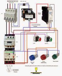 Esquemas eléctricos: Comando potencia de motor trifasico con relé de co...