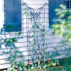 """Achla Feng Shui Lawn & Garden Patio Decor Black Graphite Rococo Decorative Outdoor Patio Trellis by Feng Shui. $221.94. 46""""L x 36""""W x 3""""H. ACHLA Designs, a Garden Accessories company, emphasizes unique, handforged, wrought iron, European furnishings for the home and garden. Items range from small hooks and brackets to large pavilions and arbors. We also offer birdbaths, birding & garden pole systems, trellises, statuary, composting products, and wood and metal fur..."""