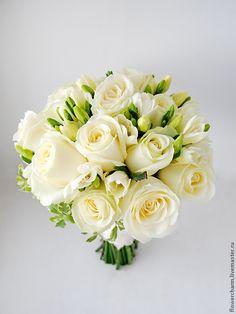 Купить Классический белый букет невесты - белый, букет невесты, свадебный букет, букет для невесты