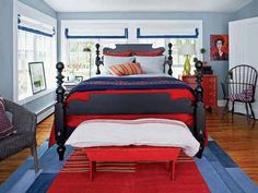 Rich Primary Colors Bedroom