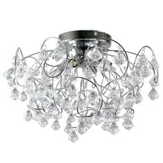 Buy collection inspire chandelier 5 light ceiling fitting blk at layla droplet four light fitting aloadofball Gallery