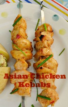 Tender, juicy Asian Chicken Kebabs are a must for your next BBQ and it takes only a few minutes to prepare the marinade and ready to grill in 30 minutes