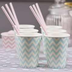 pastel blue typography - #chevron #papercups #paperstraws #vintage