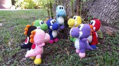 Make Mario jealous and stomp, eat, burp your enemies with your very own Yoshi!    My very original crochet Yoshi inspired by A Yoshi Story games! Guaranteed one of a kind because I made up the pattern myself.    Choose your color Yoshi! If no color is specified, the default is green Yoshi.    Rea...